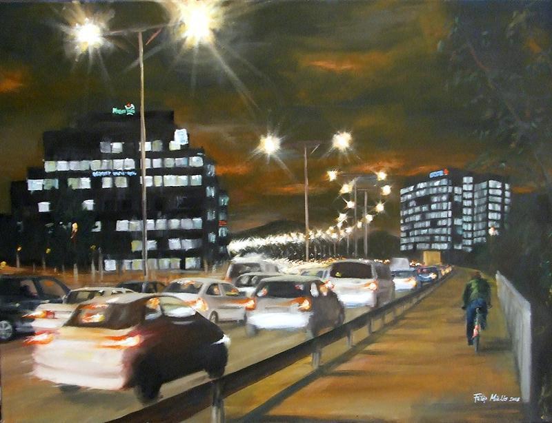 Az Árpád híd fényei